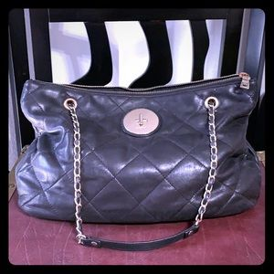 DKNY Donna Karan Quilted Leather Chain HandBag
